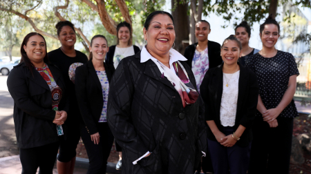 Commissioner June Oscar in Perth for the Wiyi Yani U Thangani talks